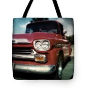 Red Chevy Pickup Tote Bag