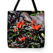 Red Chili Peppers Tote Bag