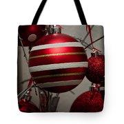 Red Christmas Balls Tote Bag