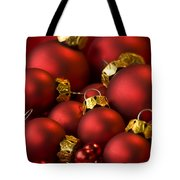 Red Christmas Baubles Tote Bag