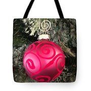 Red Christmas Ornament Tote Bag