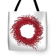 Red Christmas Wreath Tote Bag