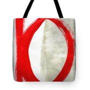 Red Circle 5- Abstract Painting Tote Bag