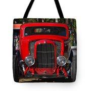 Red Classic Hotrod Tote Bag