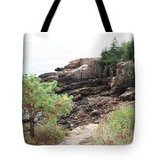Red Cliffs Of Acadia  Tote Bag