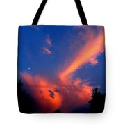 Red Clouds In The Evening Tote Bag