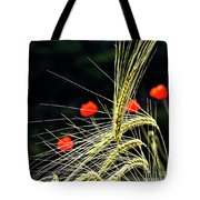 Red Corn Poppies Tote Bag by Heiko Koehrer-Wagner