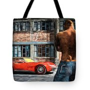 Red Corvette Tote Bag by Bob Orsillo