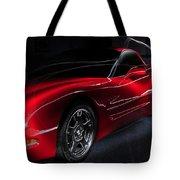 1997 Red Corvette Tote Bag