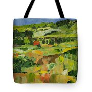 Red Cottage Tote Bag