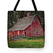 Red Country Barn Tote Bag