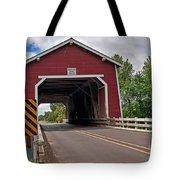 Red Covered Bridge Shimanek Art Prints Tote Bag