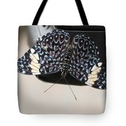Red Cracker Butterfly Tote Bag