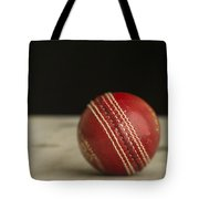 Red Cricket Ball Tote Bag