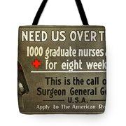 Red Cross Poster, C1914 Tote Bag