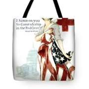 Red Cross World War 1 Poster  1918 Tote Bag by Daniel Hagerman