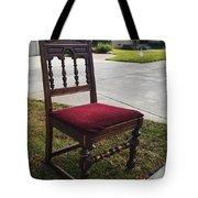 Red Cushion Chair Tote Bag