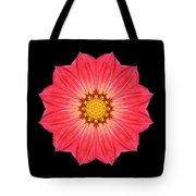 Red Dahlia Hybrid I Flower Mandala Tote Bag