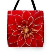 Red Dahlia Tote Bag
