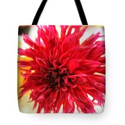 Red Dahlia Tote Bag