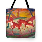 Red Deer 1 Tote Bag