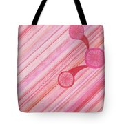 Red Delight Lines Tote Bag
