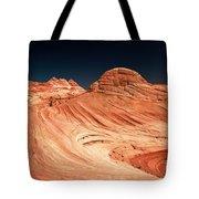 Red Desert Swirls Tote Bag