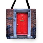 Red Door Dublin Ireland Tote Bag