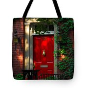 Red Door In Chicago Tote Bag