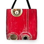 Red Door Lock Tote Bag by Tom Gowanlock