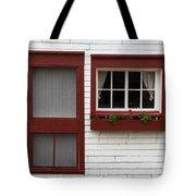 Red Door Red Window Tote Bag