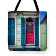 Red Doored House Tote Bag