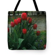 Red Dynasty Red Tulips Tote Bag