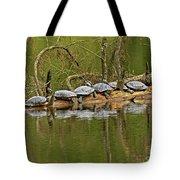 Red Eared Slider Turtles 2 Tote Bag