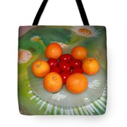 Red Eggs And Oranges Tote Bag