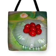Red Eggs And Daisies Tote Bag