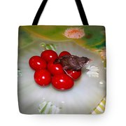 Red Eggs Bird And Flowers Tote Bag