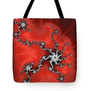 Red Energy - Abstract Fractal Artwork Tote Bag