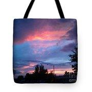 Red Evening Arizona Sky Tote Bag