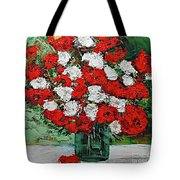 Red Explosion Tote Bag