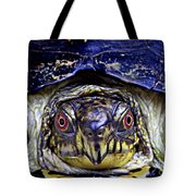 Red Eyed Turtle  Tote Bag