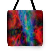 Red Face Abstract Tote Bag