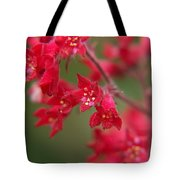 Red Fairy Trumpets Tote Bag
