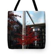 Red Fall Tree Tote Bag