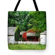 Red Farm Shed Tote Bag