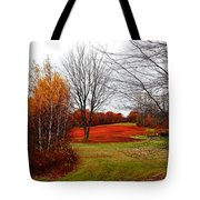 Red Field Autumn Tote Bag