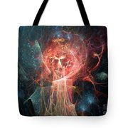 Red Fire Angels With Tower #1 Tote Bag