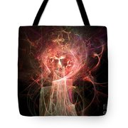 Red Fire Angels With Tower #2 Tote Bag