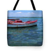 Red Fishing Boat Tote Bag