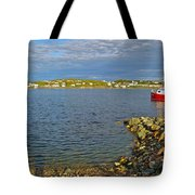 Red Fishing Boat In Twillingate Harbour-nl Tote Bag
